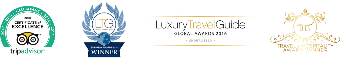 Awards by TripAdvisor, Travel & Hospitity & Luxury Travel Guide