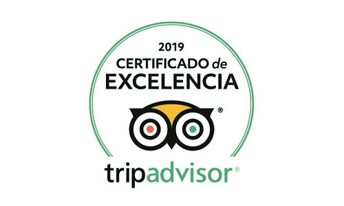 2019 Certificate of Excellence by Tripadvisor to Aitor Delgado Tours