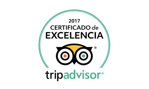 2017 Certificate of Excellence by TripAdvisor to Aitor Delgado Tours