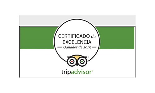 2015 Certificate of Excellence by TripAdvisor to Aitor Delgado Tours