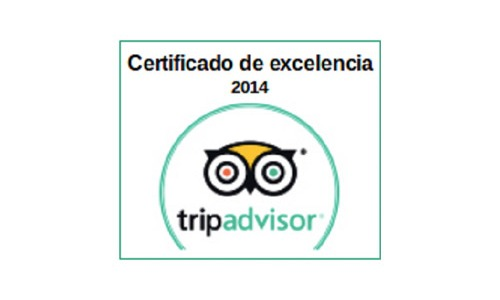 2014 Certificate of Excellence by TripAdvisor to Aitor Delgado Tours