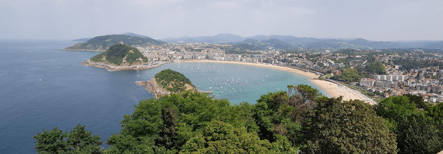 San Sebastian panoramic view