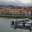 View Portugalete town & working Platform in Biscay Hanging Bridge. Near Bilbao