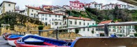 Gexto Old Port in Biscay near Bilbao September 2020