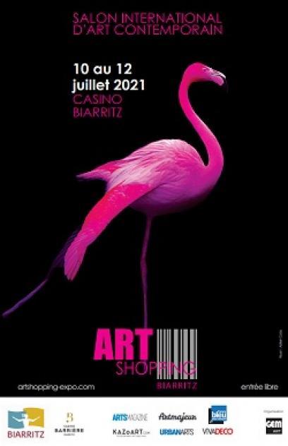 Cartel del Art-Shopping en Biarritz - julio 2021