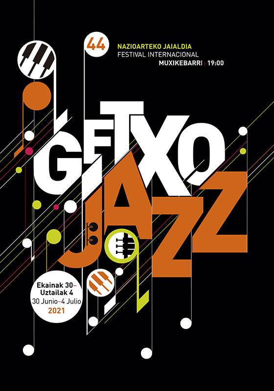 Cartel Getxo Jazz en Bilbao julio 2021